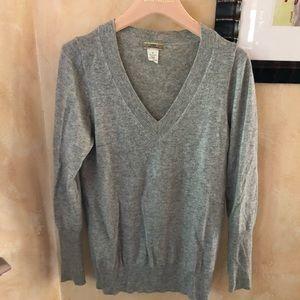 J. Crew 100% Cashmere Sweater — Gray